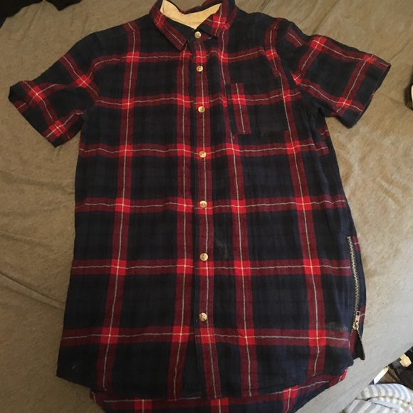 PacSun Other - Pacsun Flannel t shirt with zippers
